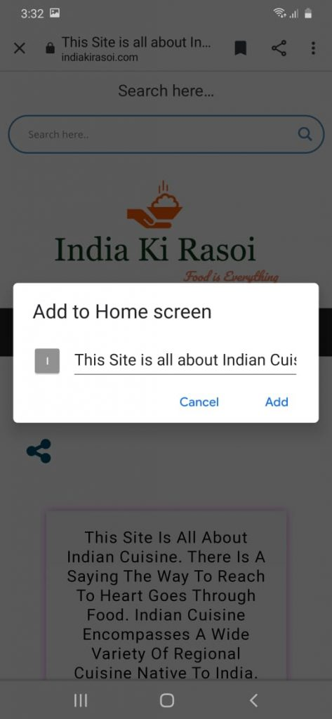 How To Add Shortcut Of Website On Mobile Screen